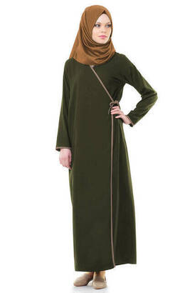 İhvan - Ikhwan 5006-7 Khaki Prayer Dress