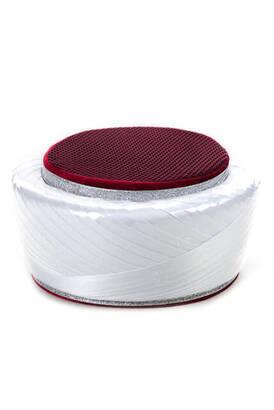 İhvan - İmam Sarığı - Çapraz Sarık - Fileli - Beyaz Renk