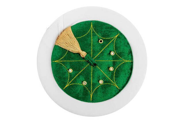 İmam Sarığı - El Sarması Sarık - Düz Sarık - Kadife - Yeşil