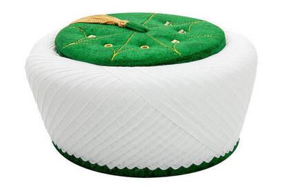 İhvan - İmam Sarığı - Sultan Sarığı - El Sarması Sarık - Çapraz Sarılmış Sarık - Kadife - Yeşil