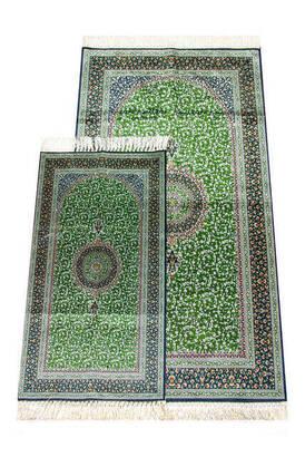 İhvan - İpekşah Baba Oğul Seccade Takımı - Yeşil Renk