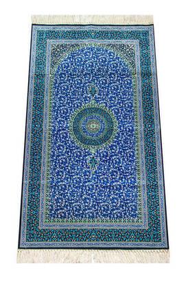 İhvan - İpekşah İpekli Seccade - Mavi Renk
