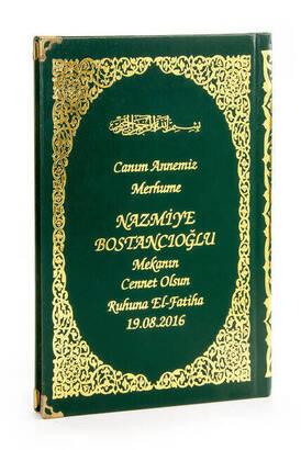 İhvan - İsim Baskılı Ciltli Yasin Kitabı - Orta Boy - 176 Sayfa - Yeşil Renk - Dini Hediyelik