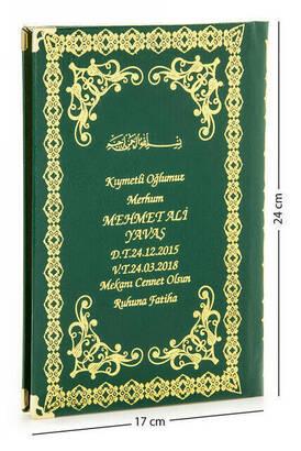 İhvan - İsim Baskılı Ciltli Yasin Kitabı - Orta Boy - 176 Sayfa - Yeşil Renk - Mevlid Hediyeliği