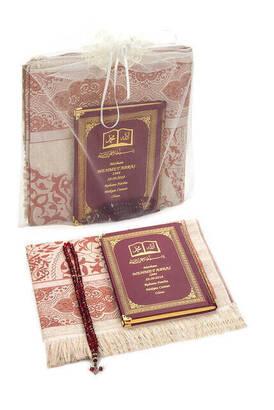 İhvan - İsim Baskılı Ciltli Yasin Kitabı - Seccade - Kristal Tesbih Set - Mevlit Hediyesi