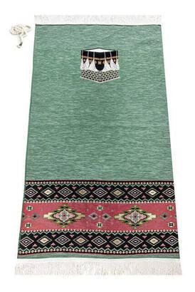 İhvan - Kaaba Patterned Prayer Rug Motif