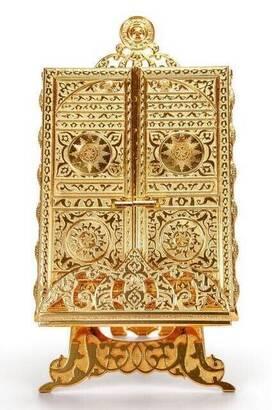 İhvan - Kabe Kapısı Desenli Kuran-I Kerim Kutusu Kuran Hediyeli-1329