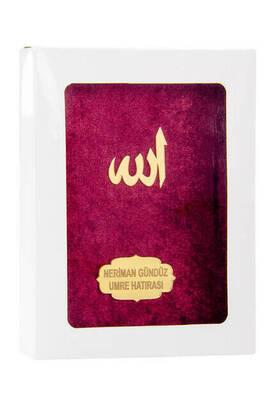 İhvan - Kadife Kaplı Yasin Kitabı - Çanta Boy - İsme Özel Plakalı - Kutulu - Kırmızı Renk - İslami Dini Hediyeler