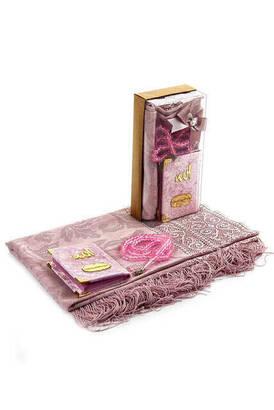 İhvan - Kadife Kaplı Yasin Kitabı - Cep Boy - İsme Özel Plakalı - Tül Şallı - Tesbihli - Kutulu - Pembe Renk - İslami Hediyelik