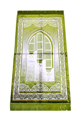 İhvan - Kadife Seccade Duble Plus - Açık Yeşil Renk