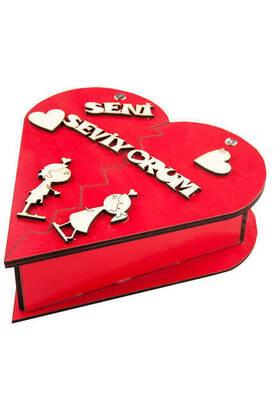 İhvan - Kalpli Açılan Seni Seviyorum Aşk Hediye Kutusu Sevgiliye