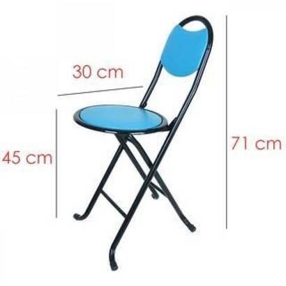 Tevhid Seda - Katlanabilir Namaz Taburesi - Sırtlı Tabure - Piknik Sandalyesi
