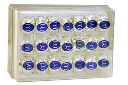 İhvan - Kayı Boyu Mavi Erkek Yüzüğü 42'li