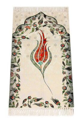İhvan - Kids Prayer Rug - Tulip Pattern - Light Red Color