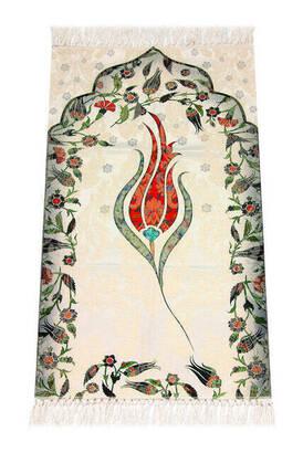 İhvan - Kids Prayer Rug - Tulip Pattern - Maroon Color