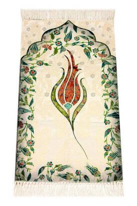 İhvan - Kids Prayer Rug - Tulip Pattern - Orange Color
