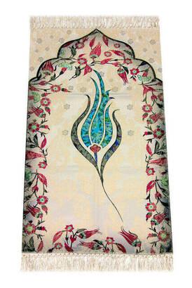İhvan - Kids Prayer Rug - Tulip Pattern - Turquoise Color