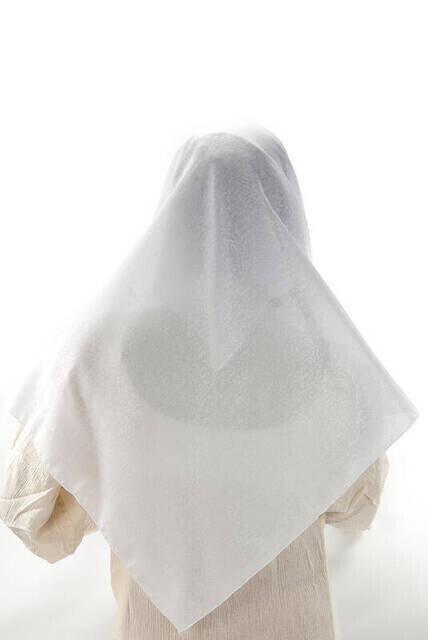 Kofra Desenli - Beyaz - Baş Örtüsü
