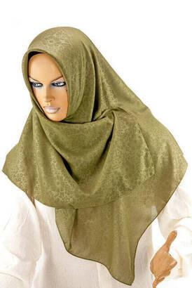 İhvan - Kofra Desenli - Çimen Yeşili - Baş Örtüsü