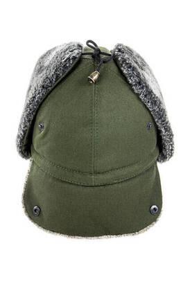 İhvan - Kot Şapka - Kulaklıklı Şapka - Haki Renk