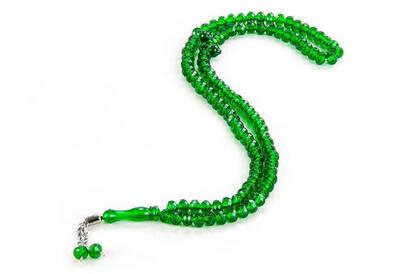 İhvan - Kristal Görünümlü 99' lu Hac Umre Hediyelik Tesbih 10 Adet Yeşil