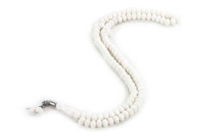 İhvan - Kristal Görünümlü 99' lu Tesbih Mevlüt Hac Umre Hediyelik 10 adet Beyaz