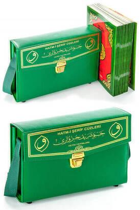 Fetih Yayınları - Kuranı Kerim - 30 Cüz Kuran - Hatmi Şerif - Rahle Boy - Bilgisayar Hatlı - Yeşil Renk