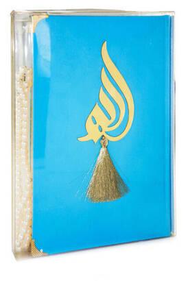 Merve Yayınevi - Kuranı Kerim - Allah Lafızlı - İnci Tesbihli - Sade Arapça - Mavi Renk - Bilgisayar Hatlı