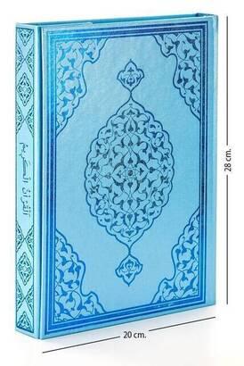 Merve Yayınevi - Kuranı Kerim - Sade Arapça - Rahle Boy - Mavi - Merve Yayınevi - Bilgisayar Hatlı