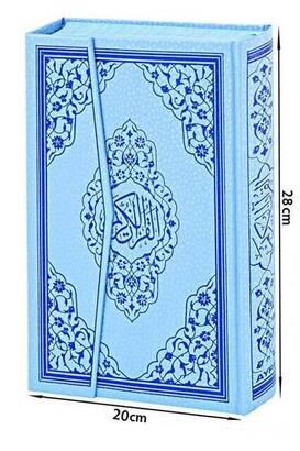 Kuranı Kerim - Sade Arapça - Rahle Boy - Sesli - Mavi Renk - Ayfa Kuran - Bilgisayar Hatlı