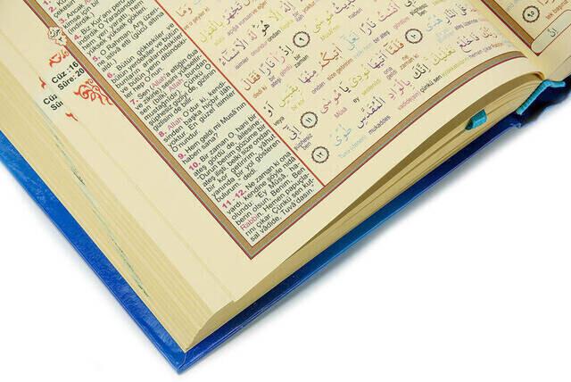 Kuranı Kerim ve Renkli Kelime Meali - Orta Boy - Seda Yayınevi - Bilgisayar Hatlı