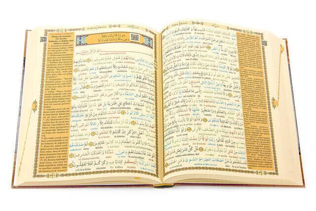 Kuranı Kerim ve Satır Arası Kelime Kelime Türkçe Okunuşu ve Meali - Rahle Boy - Haktan Yayınları