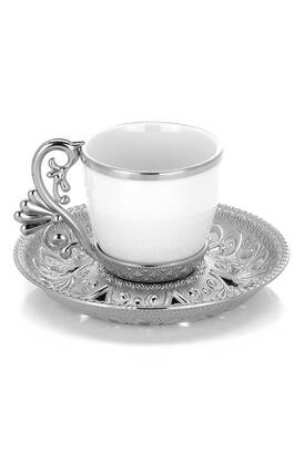 Busem Hediyelik - Lal 6-Piece Coffee Cup Set - Nickel