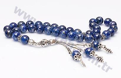 Lapis Lazuli Taşı Tesbih (925 AYAR GÜMÜŞLÜ)