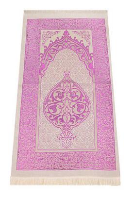 İhvan - Lüks Açık Renk Osmanlı Tafta Seccade - 0210 - Fuşya Renk