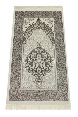 İhvan - Lüks Açık Renk Osmanlı Tafta Seccade - 0210 - Kahverengi Renk