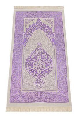 İhvan - Lüks Açık Renk Osmanlı Tafta Seccade - 0210 - Lila Renk