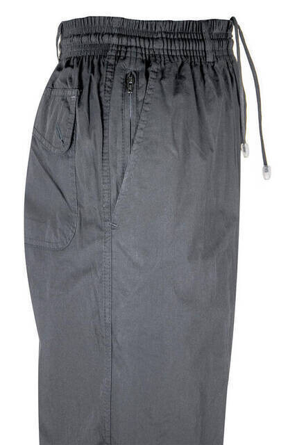 Lüks Fermuar Cepli Siyah Erkek Şalvar - Hac Umre Pantolon