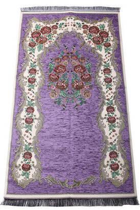 İhvan - Lüks Gülce Şönil Seccade - 0260 - Lila Renk