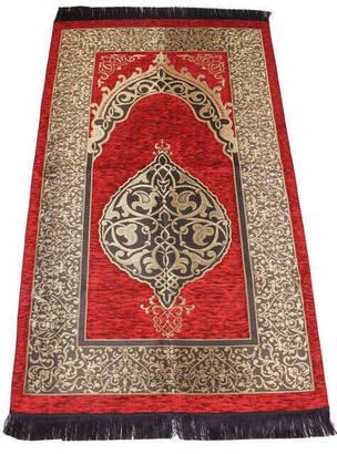 İhvan - Lüks Osmanlı Şönil Seccade - 0170 - Kiremit Rengi