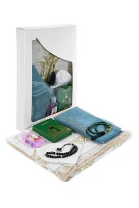 İhvan - Luxury Prayer Mat Set Religious Gift Set Window BoxEd Gift Set Lalelei Prayer Mat