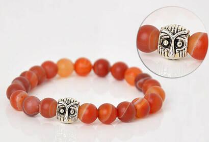 İhvan - Matt Red Flowstone Bracelet