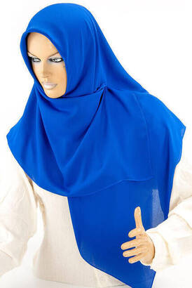 İhvan - Medina Silk Stoned Sax Blue Headscarf