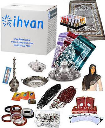 İhvan - Mekke Lüks Hac ve Umre Hediyelik Malzemeler Seti - 488 Parça Ürün - 50 Kişilik-1184