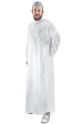 İhvan - Men's Dress - White - 3135
