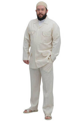 İhvan - Men's Safari Suit Beige -1182