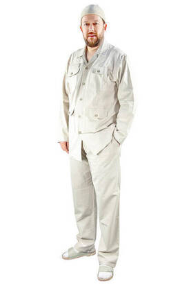 İhvan - Men's Safari Suit Cream-1171