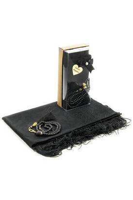 İhvan - Mevlid Hediye Seti - Tesbihli - Şal Örtülü - Siyah Renk