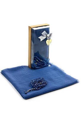 İhvan - Mevlid Gift Set - Rosary - Covered - Blue Color