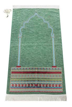 İhvan - Mihrab Prayer Rug Green Motif